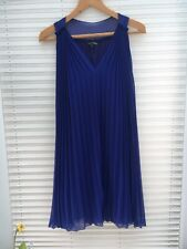 Ladies Next Signature blue pleated bridesmaid dress formal smart party Size 10