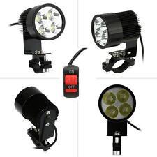 12V-80V 20W Black LED Headlight Lamp for Motorcycle E-bike + ON/ OFF Switch E4Z0