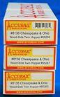HO Scale - ACCURAIL 8136 CHESAPEAKE & OHIO Wood Side Twin Hopper - KIT 3 - Pack
