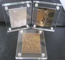 HIGHLAND MINT LE MICKEY MANTLE BRONZE SILVER GOLD BASEBALL CARD COMPLETE SET