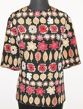 """Crosscountry Fashions Woman Multicolor Short Sleeve 42"""" Bust Shirt Blouse"""