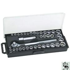 """40 Piece SAE and Metric 3/8"""" and 1/4"""" Drive Socket Set 3/8"""" Ratchet Wrench Tool"""