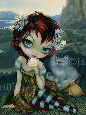 Jasmine Becket-Griffith art print white cat SIGNED Amanda Palmer Tarot: The Fool