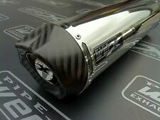 Yamaha Fazer Fzs 600 inoxidable redonda, de carbón de salida De Escape, silenciador r/legal