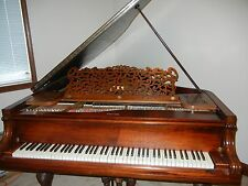 1892 Knabe parlor grand piano, rosewood, with associated piano bench