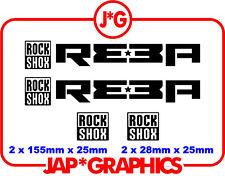 Rock Shox Reba Mountain Bike Bmx Downhill Mtb Sticker Decal Envío Gratis