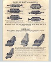 1910 PAPER AD Autoharp Herold & Sohne Flute Blow Accordeons Concertinas