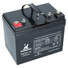 Gel Batterie 12V 33Ah Poweroad PG33 12 Deep Cycle GEL Rollstuhl, Elektromobile