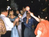 """1952 New Years Eve Party OH Drunk Dancing Vtg Fashion 7"""" 16mm Film 400' Reel EXC"""