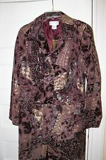 Newport News new tags purple gold genuine leather suede jacket coat 12
