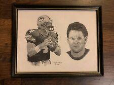 Brett Favre Packers Frank Nareau Print 1996 Framed 15X12