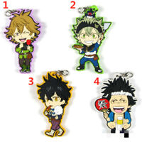 Anime Black Clover rubber Keychain Key Ring Race Straps cosplay