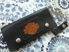 Vintage NEW 80's Harley-Davidson Leather Chain Belt Loop Wallet Free Shipping