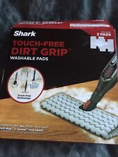 NIB Shark Touch-Free Dirt Grip Washable Mop Pads XTP184 (Box of 2 Pads)