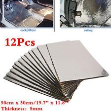 Car Heat Shield Mat Firewall Sound Deadener Insulation Deadening Cotton 12pc 5mm