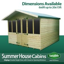 More details for supreme summer house log cabin office bar shed top quality graded wooden timber