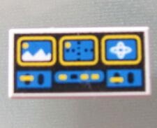 LEGO 3069bp61 @@ Tile 1 x 2 Blue Yellow Controls Pattern @@ 6441 6898 6973 6983