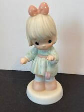 Vintage 1999 Precious Moments God Knows Your Ups And Downs Girl W Yo-yo