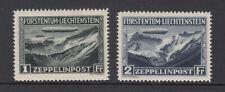 Liechtenstein Sc C7 - C8 Zeppelin Set 1931 VF Mint Hinged