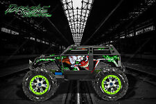 "TRAXXAS SUMMIT GRAPHICS WRAP DECALS ""STIFF UPPER LIP"" FOR OEM BODY PARTS GREEN"