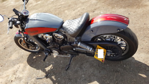 INDIAN SCOUT - SIDE MOUNT No PLATE & LED LIGHT