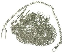 10 X NEW STAINLESS STEEL POCKET WATCH CHAINS JOB LOT TRADE DEAL WHOLESALE
