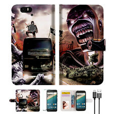 Iron Maiden Wallet Case Cover For Google Pixel 2 XL-- A014