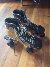 Vintage Bauer Hockey Style Quad Roller Skates Oak St. 1970 size 14 ???