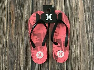 Men's Hurley Pink Thong Flip Flops Size 12 NEW New With Tags