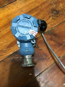 "Rosemount 2090F Pressure Transmitter 4-20 mA Hart 0-150 PSI 1 1/2"" Sanitary"