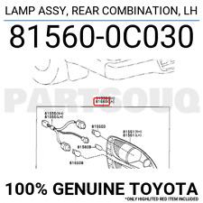 815600C030 Genuine Toyota LAMP ASSY, REAR COMBINATION, LH 81560-0C030