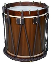 "Military Heritage Drum Rope Tension Snare Renaissance 16"" x 16"" calf skin heads"