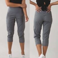 Lululemon Slate Grey IN FLUX Crop Studio High Waist Jogger Track Pants 8 Women's