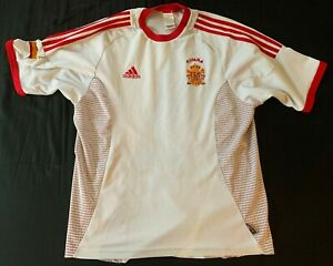Maillot Espagne Espana 2001 blanc football vintage Adidas jersey  spain camiseta