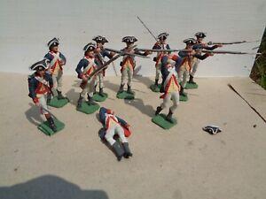 Imrie Risley, American Revolution Commander N Chief Guard lot of 10 lead 54mm jj