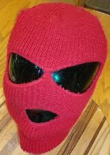 NICE KIDS FULL FACE MASK WINTER COLD PROTECTION IN VERY GOOD CONDITION DARK RED
