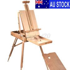 AU Portable Folding Wooden Art Easel Tripod Stand Sketch Artist Painters Craft