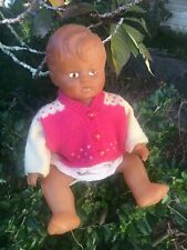 Vintage Baby Doll Rubber 32cm Bath Toy 1960s?