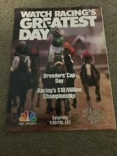 Vintage 1989 BREEDERS' CUP HORSE RACING NBC Poster Print Ad SUNDAY SILENCE RARE