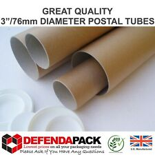 """More details for postal tubes a5 a4 a3 a2 a1 a0 + poster size x 76mm 3"""" diameter strong cardboard"""
