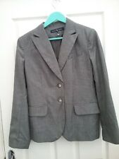 French connection Womens Grey Virgin Wool Tailored Blazer Jacket size 12 New