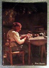 Carte postale vieille femme ferme  Louis Lumiére vintage  postcard