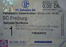 TICKET 1994/95 FC Schalke 04 - SC Freiburg