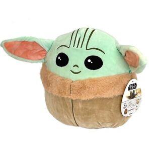 "Squishmallows 10"" Star Wars Mandalorian The Child Plush Toy Baby Yoda KellyToys"