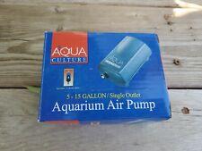Aqua Culture 5-15 Gallon/ Single Outlet Aquarium Air Pump/ Up to 1200cc Per Min