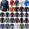 Men T Shirt Compression Long Sleeve Under Base Layer Thermal Sports Tights Tops