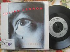 Julian Lennon promo release date sticker Saltwater  UK 7 Vinyl  single VIRGIN