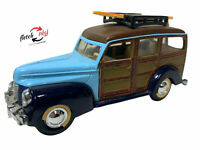 Rare Superior 1940 40 Ford Woody Wagon Surfboard Diecast Toy Car SS 5706 Blue