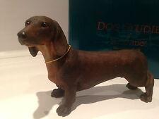 Red Brown Minature Standard Daschund Ornament Dog Gift Figure Figurine