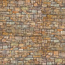 Stein bunt - bedruckter Sichtschutz mit Motiv Doppelstabmattenzaun